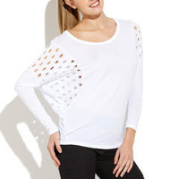 ideeli | ANM Cutout Dolman Tee