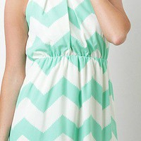 Minty Zig Zag Dress