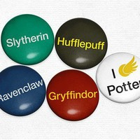 Harry Potter Inspired Hogwarts Houses - Set of 5 Magnets - Whimsical &amp; Unique Gift Ideas for the Coolest Gift Givers