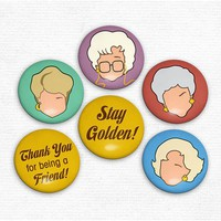 Golden Girls Set - Magnets and/or Pins - Whimsical &amp; Unique Gift Ideas for the Coolest Gift Givers