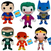 Classic DC Comic Book Plushies - Superman, Batman, Green Lantern or The Flash - Whimsical &amp; Unique Gift Ideas for the Coolest Gift Givers