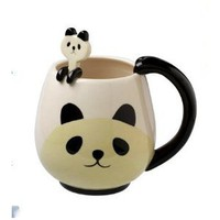 Amazon.com: Panda Fancy Mug Cup Set with Spoon: Home & Kitchen