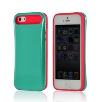 Amazon.com: Hot Pink/ Turquoise Glow in the Dark Hard Cover on Silicone Case for Apple iPhone 5: Everything Else