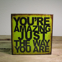 Inspirational Music Art Block Painting Youre Amazing by MatchBlox