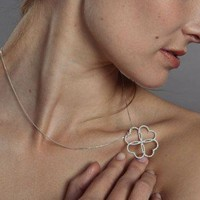 Clover on Four Hearts Chain Pendant from Atelier de Famille | Made By Atelier de Famille | £84.00 | Bouf