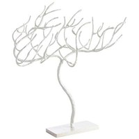 White Glitter Tree Decor