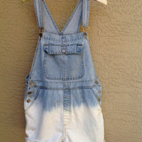 "Shortalls Overalls Bleached """" Custom Listing for Rachel """"  Dip Dyed Size Medium"