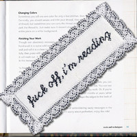 Bookmark Kit: Fuck Off, I'm Reading | Subversive Cross Stitch