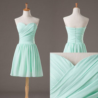 Sweetheart Neckline Chiffon Bridesmaid Dresses/Prom Dresses/Graduation Dresses from Girls Dress