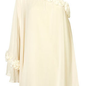 Flute Sleeve Corsage Dress by Rare** - Clothing - Designers - Topshop