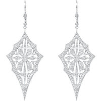Stone Diamond & White Gold Lilith Earrings at Barneys.com