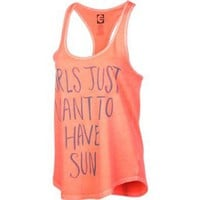 Billabong Sun Fun Van Tank Top - Women`s Steel Grey, S: Clothing