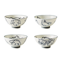 SET OF 4 BOWLS - DOGS