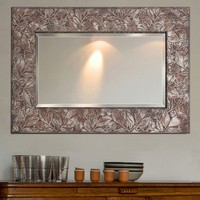 Illuminada - Carved Leaf Rustic Mirror (8699) - Framed - Mirrors