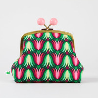 VACATION - Color bobble pouch - Tulipa pink - metal frame clutch bag