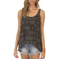 Billabong - Bilabong Girls Tank Top - Here We Are - Black/White - Medium: Clothing
