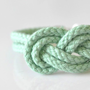 Mint Infinity Knot Bracelet