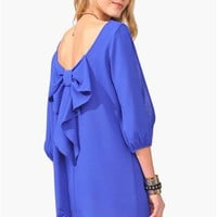 Waldorf Bow Dress - Royal Blue