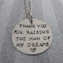 Personalized Mother In Law Necklace Hand Stamped Jewelry