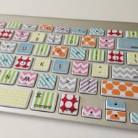 Washi Tape Inspired iMac or Macbook Pro Keyboard Skin