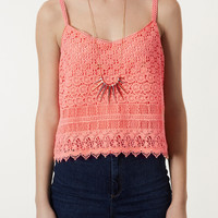 Crochet Cami - Tops - Clothing - Topshop USA