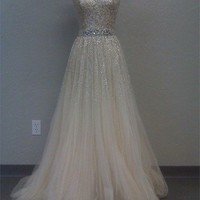 2013 Cheap Gorgeous Sweetheart A-line Tulle Prom Dresses with Sequins from 2013 New Dresses