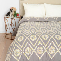 Plum &amp; Bow Two-Tone Eyelet Duvet Cover