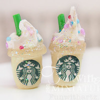 Doll's Starbucks Drink -Glow in The Dark  in 1/12 and 1/6 scale