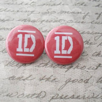 One Direction earrings // 1D Directioner Liam Niall by addieladawn