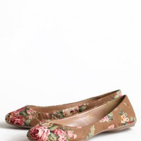 Roses In The Garden Floral Flats | Modern Vintage Shoes