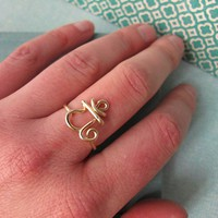 Heart Chakra Ring in 14k gold filled