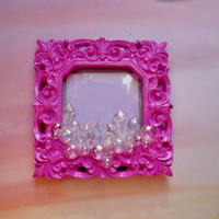 Pink Crystal Bubble picture frame