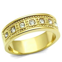 Ion Gold Plated Crystal Ring - 06606