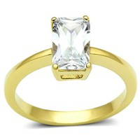 Ion Gold Plated Cubic Zirconia Ring - 06596