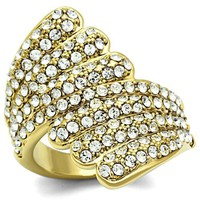 Ion Gold Plated Crystal Ring - 06562