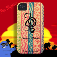 IPhone Case - lion king hakuna matata symbol case Make to order Free Shipping and Sale for summer time