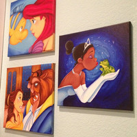 "Custom Disney canvas: 12""x12"""