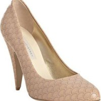 Stella McCartney shell pink scalloped faux leather pumps at Bluefly