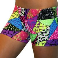 "GemGear Jungle Print 2.5"" Inseam Compression Shorts: Clothing"