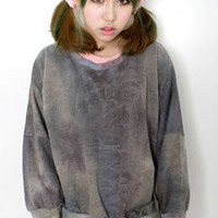 AsiaJam.com Fashion Boutique | Oversized Acid Washed Tye Die Top