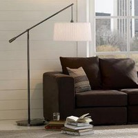 Pleated-Shade Floor Lamp | west elm