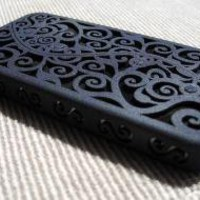 Designer iPhone 4 Victorian Filigree Swirl by CWestbrookDesigns