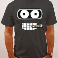 Bender, Futurama, All Sizes Available! Cartoon, Robot face. parody