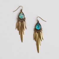 Abalone and Brass Chandelier Earrings | World Market