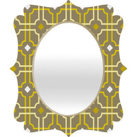 DENY Designs Home Accessories | Caroline Okun Dusky Lattice Quatrefoil Mirror
