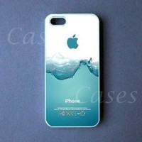 CUSTOM IPHONE 5 CASE Watersplash Iphone 5 Cover Funny LOVELY Pretty Cute BEST COOL: Cell Phones &amp; Accessories