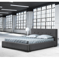 Homewerx Modern Life.Style - Reve Bed + Storage Queen Size