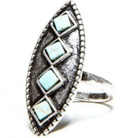 Brandy ♥ Melville |  Vintage Diamond Turquoise Ring - Jewelry - Accessories
