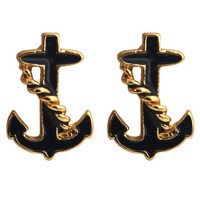ROMWE | Chained Anchor Earrings, The Latest Street Fashion