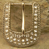 Rhinestone Belt Buckle Silver Womens Belt Buckle For Belt